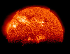 [Free Image] Nature/Landscape, Astronomical Object, Sun, Solar Prominence, 201104020100