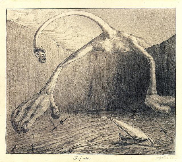 Alfred Kubin - Danger, 1901