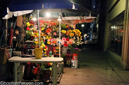 So many nighttime flower stands.  ?