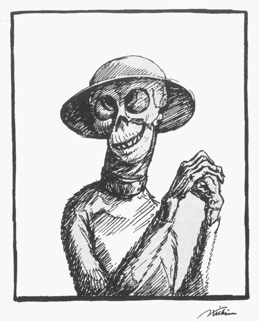 Alfred Kubin - Die Maske des Todes, 1918