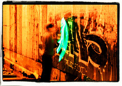 Graffiti and Light Painting 03 (s.s.minnow) Tags: light lightpainting motion green graffiti ballard tagging seattlest salmonbay seattlewa ballardbridge fridayfinds 52weeks2011 dwcfflightpaint