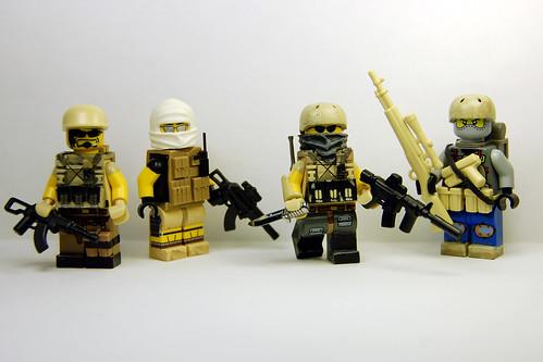 Custom minifig custom minifig Mercenaries