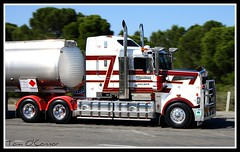 Kym Martin (Tom O'Connor.) Tags: road train truck canon lens eos one highway martin diesel south transport under twin australia down double stuart national birkenhead land trucks kit sa petrol bound picnik fuel trucking kym tankers truckers kenworth lochiel 2011 t908 1000d