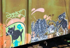 "DEUCE SEVEN ""27"" (Rob Swatski) Tags: street railroad fish streetart art car train bench painting graffiti nikon paint grafitti pennsylvania tag graf 7 rail railway trains pa railcar seven spraypaint boxcar graff 27 railways railfan freight deuce freighttrain freights rollingstock fr8 twentyseven benching deuceseven nikond40 freighttraingraffiti deuce7 swatski"