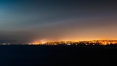 Refining Paradise (jwowens) Tags: california ca industry beach night clouds la smog los twilight angeles pollution citylights oil lax manhattanbeach santamonicamountains refinery hermosabeach lightpollution beachcities internationaldarkskyweek