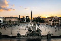 Piazza del Popolo (Francisco Esteve Herrero) Tags: piazzadelpopolo roma italia 2016 franciscoesteveherrero atardecer obelisco nikond5300 italy rome pacoesteveherrero