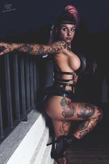 Marta Boo (rubenfcid) Tags: model shooting sexy sensual erotic beauty beautiful portrait woman girl lady fashion lust fetish pretty pinkhair madmax tribal thong leather inkedgirl tattoos tattooedgirl