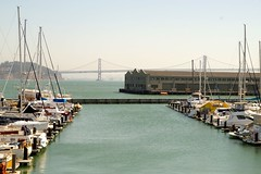 Oakland Bay Bridge From Pier 39 (frankbehrens) Tags: california sanfrancisco kalifornien oaklandbaybridge pier39
