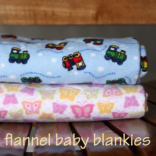 06 - flannel baby blankies