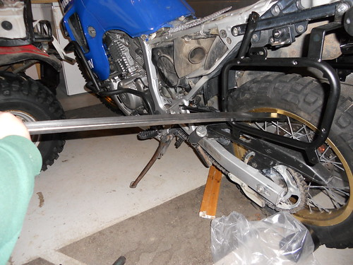 Bending it to fit front bolt