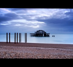 I know... (JK x) Tags: ocean sea sky west beach clouds sussex pier brighton long exposure pic pebbles shore another bloody
