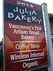 Julia Bakery in Vancouver WA
