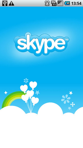 Android Skype 起動ロゴ
