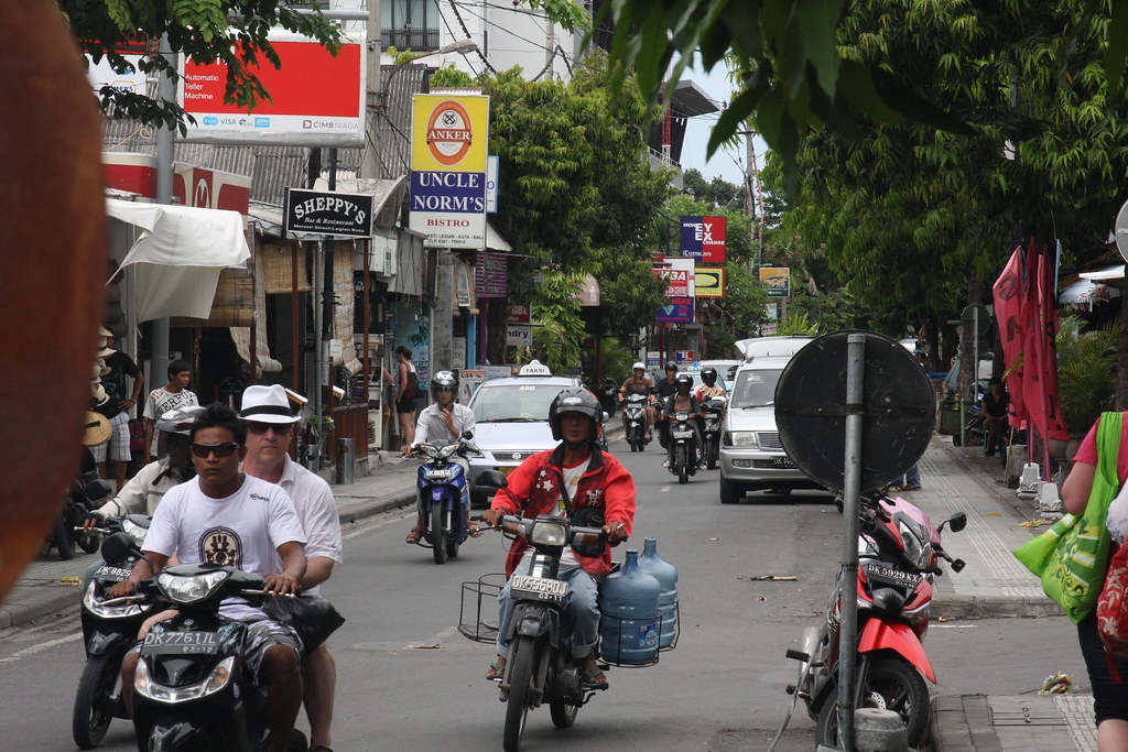 Typical Legian traffic