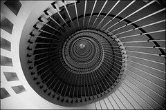 Snailcase (Digital Owl) Tags: bw architecture hospital spiral staircase 50v5f mge digitalowl digiowl