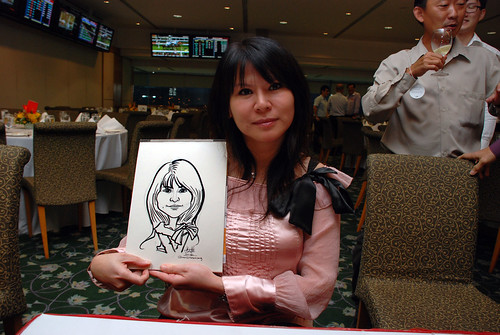caricature live sketching for Thorn Business Associates Appreciate Night 2011 - 10
