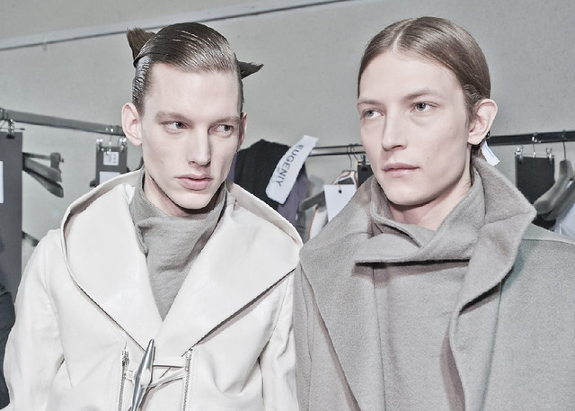 Christian Brylle3180_FW11_Paris_Rick Owens_with Tim Boot(Dazed Digital)
