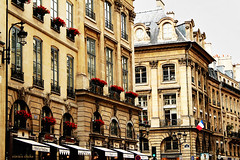 Paris buildings (nina's clicks) Tags: paris france buildings flag bandera balconies redflowers balcones parisbuildings floresrojas