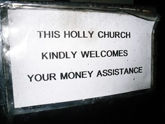 Holly??? Church (pefkosmad) Tags: church sign funny greece spelling griechenland rodos rhodes 2009 greekorthodox dodecanese rodhos filerimos
