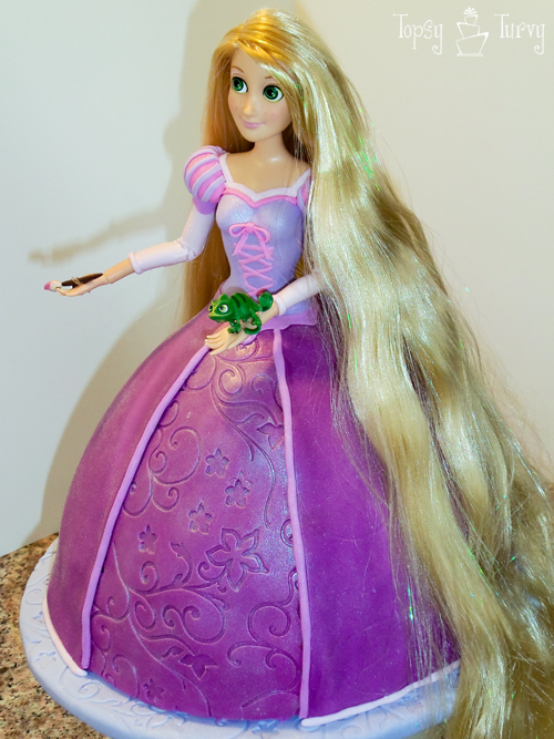 Princess Rapunzel barbie birthday cake tutorial