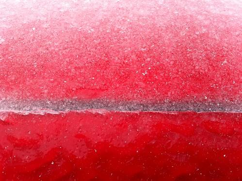 Car door iced shut