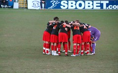 Reading Pre-Match Huddle