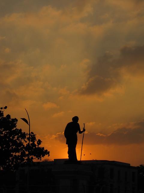 Gandhi silhouette