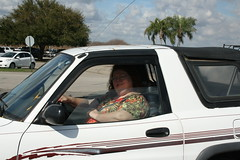 Toni in her Rav 4 (TrotlineDesigns (Ron Joseph) In The Glades) Tags: fat bbw chick wife milf ssbbw gmilf