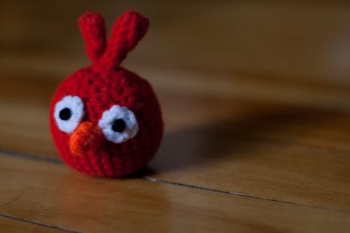 Not so angry bird amigurumi