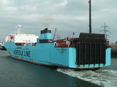 Maersk Exporter (S.L.R) Tags: slr port c norfolk line stern roro exporter maersk heysham