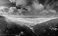 Breathe deeply and relax... (s0ulsurfing) Tags: ocean sea summer england sky blackandwhite bw panorama cloud white black english texture beach nature water weather clouds composition contrast skyscape grey mono bay coast seaside sand scenery skies natural britain compton stones patterns shoreline wideangle monotone panoramic wash coastal shore isleofwight cumulus coastline british cloudporn atmospheric nube englishchannel wight meteorology 2010 nephology altocumulus lamanche comptonbay sigma1020 s0ulsurfing thecloudappreciationsociety thecloudspottersguide vertorama