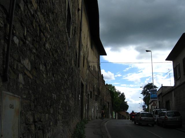 フィレンツェの道路のフリー写真素材