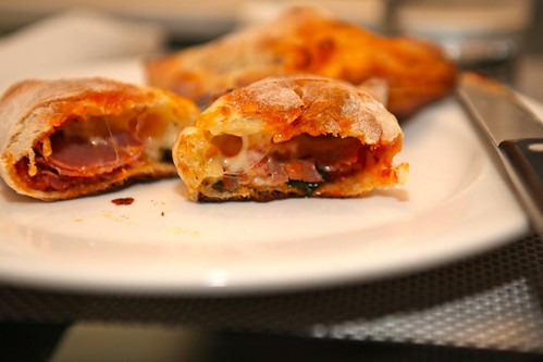gooey cheesey mini-calzone