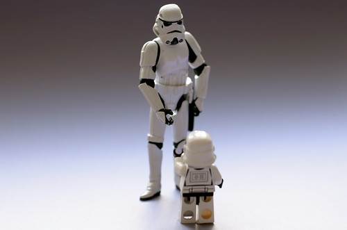 The Mini and Big Stormtrooper