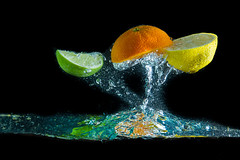 fruit splash (kubais) Tags: canon eos 7d f18 iso100 gupr alive aqua background beverage black bubble citrus clean clear cold consume diet dieting drink drop energy explosion flow food fresh fruit green health healthy ingredient juice jump lemon life light lime liquid live mineral nature night orange power refreshing ripple river splash splashing underwater vital vitamin water