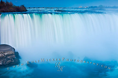Horseshoe Falls Niagara Falls Early Spring (Rolf Hicker Photography) Tags: mist ontario canada ice nature water ecology weather horizontal closeup river niagarafalls waterfall twilight scenery dusk nobody nopeople landmark icon spray illuminated waterfalls northamerica environment flowing concept conceptual iconic environmentalism touristattraction nightfall ecosystem horseshoefalls concepts niagarariver flowingwater canadianicon centralcanada niagarariverparkway