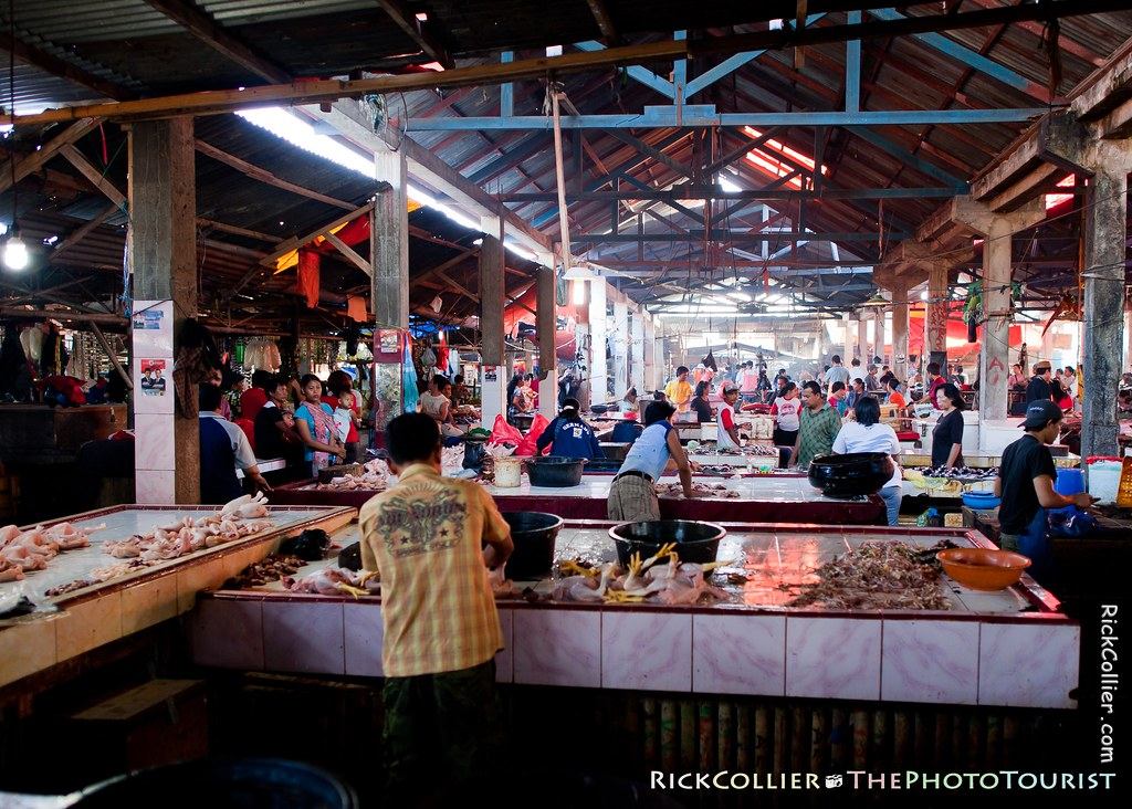 View of the Aertembaga Market in Bitung, North Sulawesi, Indonesia
