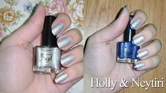 Francesinha Holo (lupy_monteiro) Tags: branco azul holly unha coleção esmalte francesinha holográfico neytiri sancionangel