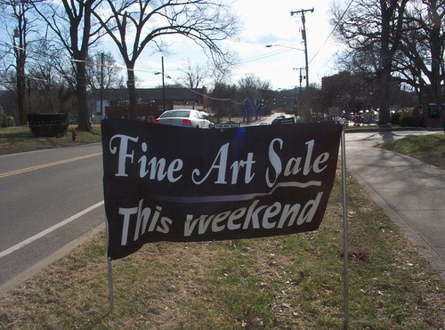 Ad Banner for Fine Art Sale