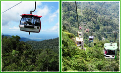 Skyway cable cars, Genting Highlands in Malaysia