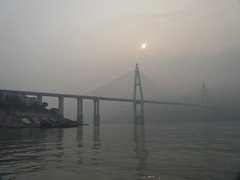 Yantze river - China  (h2ooo2h) Tags: china sunset river hubei  yantze