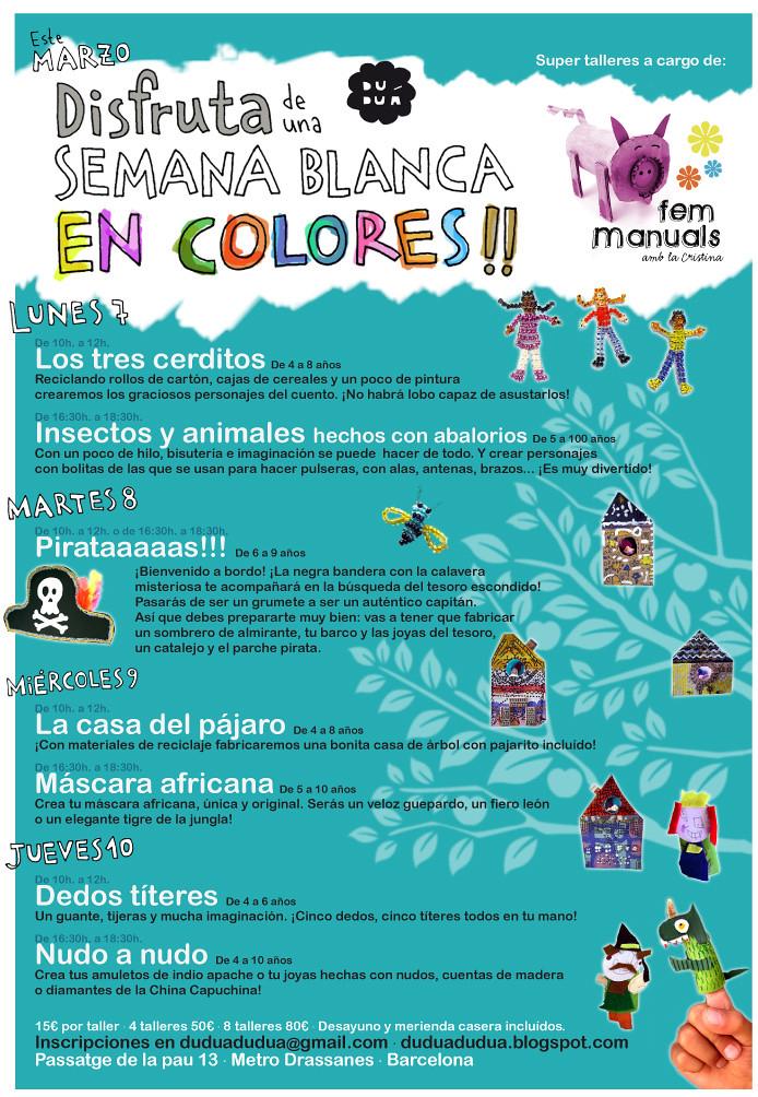 Marzo 2011: Talleres infantiles en Duduá