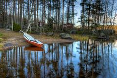 blue reflections (Arto Leppnen Photography) Tags: lake boat vene jrvi blue sininen