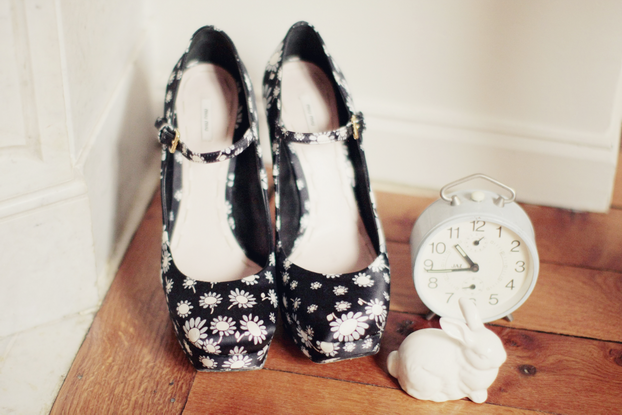 miu miu shoes - Vintage clock - Urban Outfitters bunny