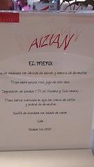 Restaurante Aizian - Hotel Meliá Bilbao - Menú Ejecutivo II
