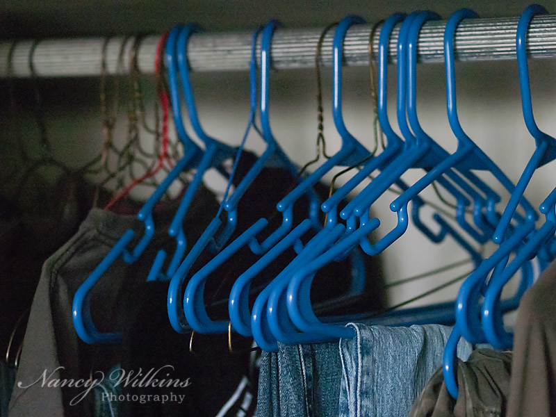 48/365 Empty hangers = wash day
