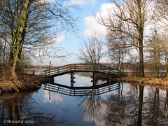 Double-bridge ( Annieta  Off / On) Tags: bridge winter sky nature water netherlands clouds canon reflections spring bomen geocaching nederland natuur wolken powershot s2is brug lucht riflessi allrightsreserved gouda februari zuidholland weerspiegeling reflectie voorjaar naturesfinest natuurgebied 2011 blueribbonwinner waddinxveen newvision digitalcameraclub geocachen supershot annieta bej naturepoetry 100commentgroup tweegje mirrorser reflectionslovers leuropepittoresque usingthisphotowithoutpermissionisillegal mygearandme mygearandmepremium mygearandmebronze mygearandmesilver mygearandmegold mygearandmeplatinum mygearandmediamond peregrino27newvision