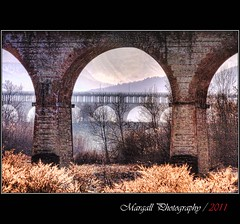 Perspective on the bridges - HDR - Viadotto Soleri - Cuneo - Italy (Margall photography) Tags: new bridge winter italy canon photography italia tripod perspective sigma ponte piemonte marco inverno hdr manfrotto 30d soleri galletto viadotto margall 190xprob cunep