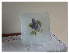 Decoupage em vidro (rosinha_dos_limoes) Tags: handmade craft prato me decoupage trabalhosmanuais