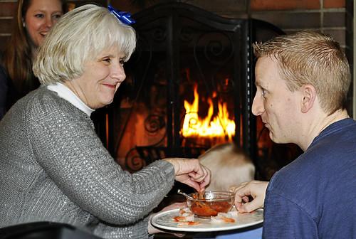 Chris and Donna over Shrimp